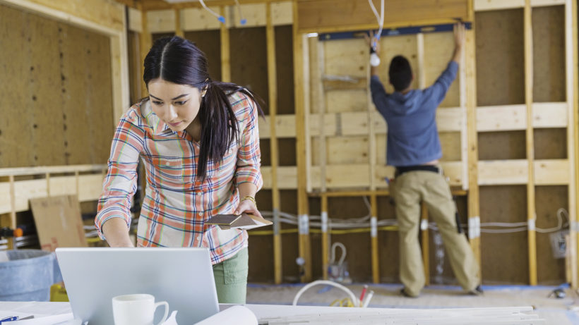 6117-06940479 © Masterfile Royalty-Free Model Release: Yes Property Release: Yes Young couple working on home renovations